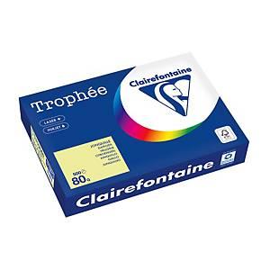 Papier pour photocopieur Trophée 1778 A4, 80 g/m2, jonquille, 500feuilles