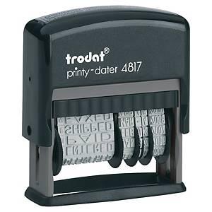 Tampon manuel Trodat Printy 4817 avec bande de texte et date, NL, 3,8 mm