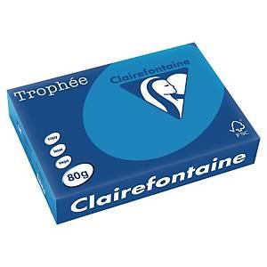 Clairefontaine Farbpapier, Trophée, A4, 80g/m², blau