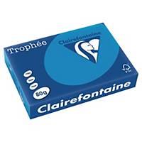 Farebný papier Clairefontaine, Trophée, A4, 80 g/m², modrý