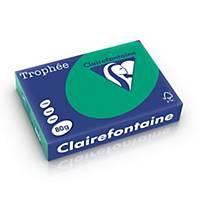 Clairefontaine Trophée 1783 gekleurd A4 papier, 80 g, bosgroen, per 500 vel