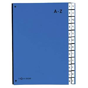 Trieur Pagna A4, A-Z, bleu