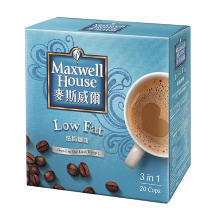 Maxwell House 3 In 1 Coffee Mix Low Fat Box Of 20