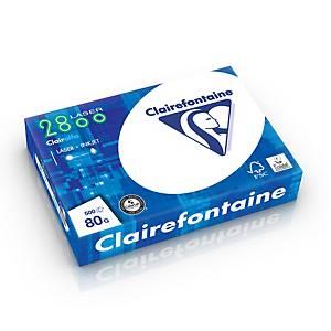 Clairefontaine papier blanc 2800 A4 80g - 1 boite = 5 ramettes de 500 feuilles