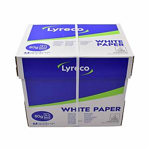Lyreco A4 White Paper 80gsm - Box of 5 Reams (5 x 500 Sheets)