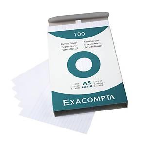 Lístky do kartotéky Exacompta, A5, linajkové