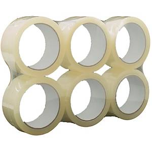Lyreco Budget Clear Sticky Tape 50mm X 66M - Pack of 6