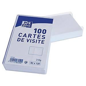 Bristol pour carte de visite Oxford - 210 g - 82 x 128 mm - blanc - boîte de 100