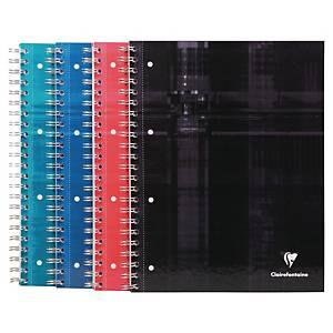 Collegeblock Clairefontaine A4+, 5 mm kariert, 80 Blatt, assortiert
