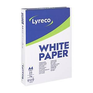 Papier A4 blanc Lyreco Standard, 75 g, la boîte de 5 x 500 feuilles