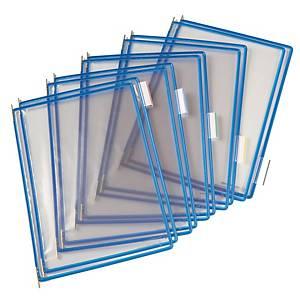 Tarifold saranatasku A4 läpinäkyvä/sininen, 1 kpl=10 taskua