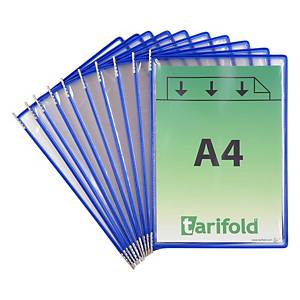 Tarifold 114001 pockets for display system in metal/PVC blue - pack of 10