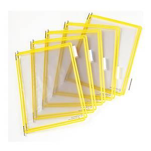 t-display Industrial Tarifold Drehzapfentafeln A4, gelb, Packung mit 10 Stück