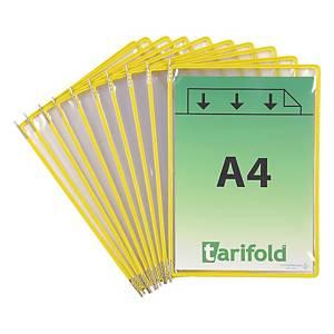 Pochettes transparentes Tarifold 114004 A4, jaune, paq. 10unités