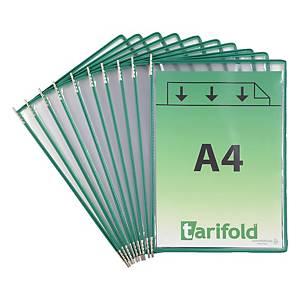 Sichttasche Tarifold 114005 A4, grün, Packung à 10 Stück