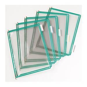 Náhradní panely t-display Industrial Tarifold A4, barva zelená, v balení 10 ks