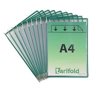 Drehzapfentafel Tarifold Technic 114005, A4, grün, 10 Stück