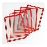 Tarifold T-display Industrial pót bemutatótáblák, A4, piros, 10 darab/csomag