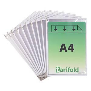 Pochettes transparentes Tarifold 114002 A4, blanc, paq. 10unités