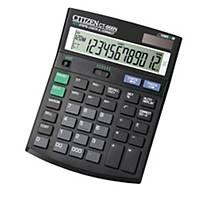 Calculatrice de bureau Citizen CT-666N, noire, 12 chiffres