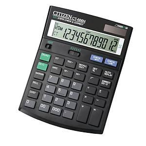 Citizen CT-666N rekenmachine voor kantoor, zwart, 12 cijfers