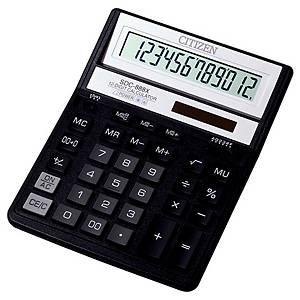 Stolní kalkulačka Citizen SDC888XBK, 12-místný displej, černá