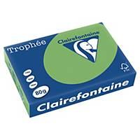 Farebný papier Clairefontaine, Trophée, A4, 80 g/m², zelený