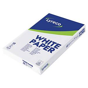 Papier A3 blanc Lyreco Standard, 80 g, la boîte de 3 x 500 feuilles