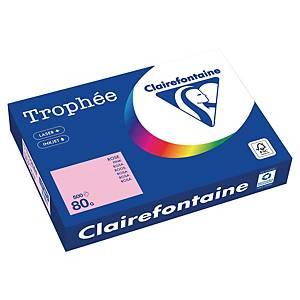 Papier couleur A4 Clairefontaine Trophée - 80 g - rose - 500 feuilles