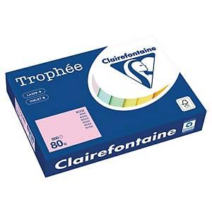 Trophée farebný papier Clairefontaine, A4 80g/m² - svetloružový