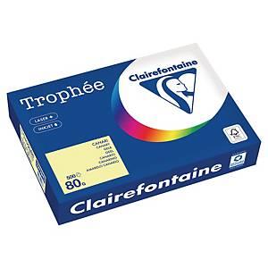 Papier couleur A4 Clairefontaine Trophée - 80 g - jaune canari - 500 feuilles