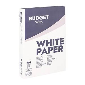 Lyreco Budget white paper A4 80g - 1 box = 5 reams of 500 sheets