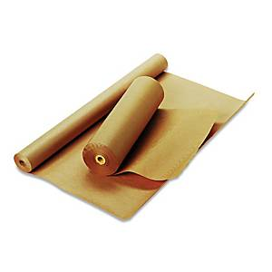 Emballagepapper DS Smith, kraftpapper, handrulle, 75 g, 100 cm x 50 m, brunt