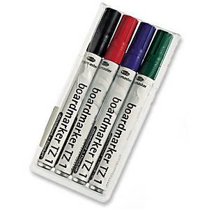 Whiteboardmarker Legamaster TZ1, rund, etui a 4 farver