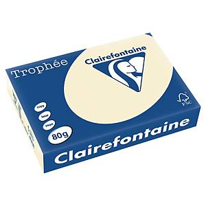 Papier couleur A4 Clairefontaine Trophée - 80 g - ivoire - 500 feuilles
