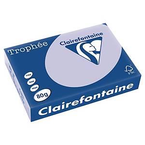 Clairefontaine színes papír, Trophée, A4, 80 g/m², világos lila