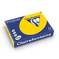 Clairefontaine Trophée 1780 gekleurd A4 papier, 80 g, goudgeel, per 500 vel
