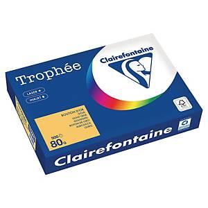 Papier couleur A4 Clairefontaine Trophée - 80 g - bouton d or - 500 feuilles
