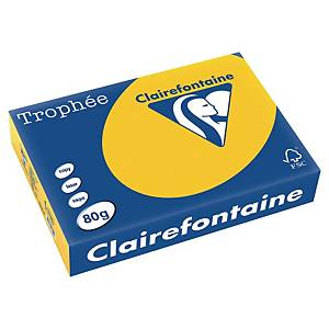 Trophée farebný papier Clairefontaine, A4 80g/m² - zlatožltý