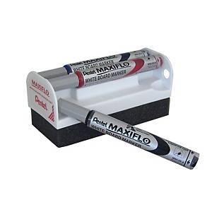 Borrador + set de 4 rotuladores Pentel Maxiflo - surtido