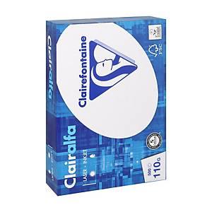Papier A4 blanc Clairefontaine 2110, 110 g, les 500 feuilles