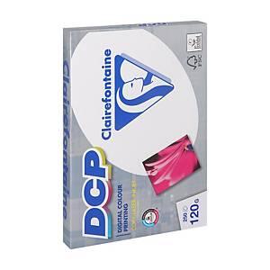Papier A4 blanc pour impressions couleur Clairefontaine DCP, 120 g, 250 feuilles