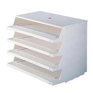 PANORAMA LETTER TRAY A4 WHITE 4/PK