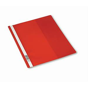 Hurtighefte Bantex, A4+, rød, pakke à 25 stk.