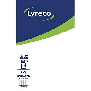 Notesblok lyreco, A5, ternet