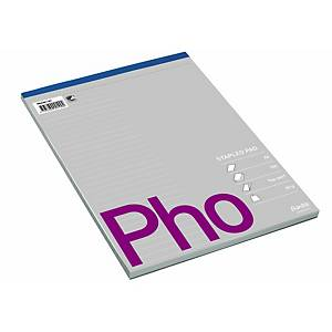PAD TOP PERFORATED A4 RULED