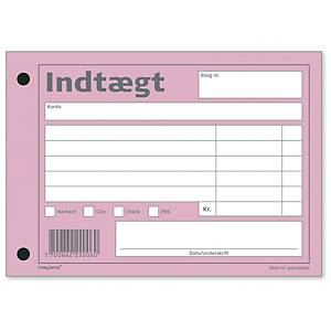 INCOME NOTE 105X147 MM 100 SHEETS PINK