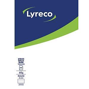 Stenogramblok Lyreco, 18 x 22,5 cm, 80 ark, 60 g