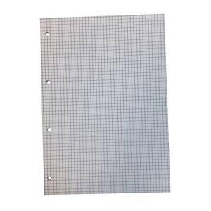 Notesblok Specialplast, A4, ternet med 4 huller, 5 x 5 mm, 25 ark a 60 g