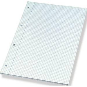 Notesblok Bantex, A4, ternet, med 4 huller, sidelimet